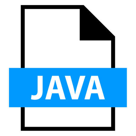Use it in all your designs. Filename extension icon JAVA Java Source Code File in flat style. Quick and easy recolorable shape. Vector illustration a graphic element.