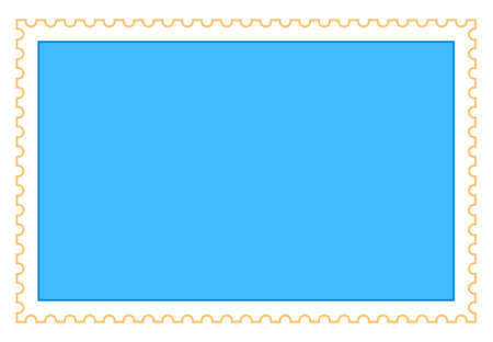 Use it in all your designs. Blank rectangle postage stamp. Quick and easy recolorable shape. Vector illustration a graphic element.