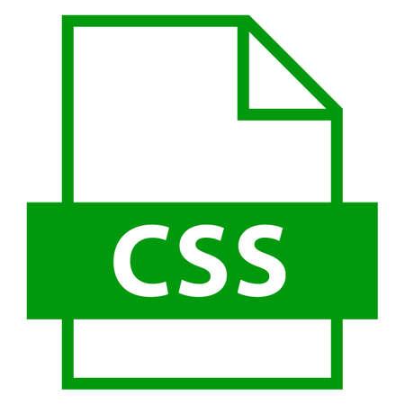 모든 디자인에서 사용하십시오. 파일 이름 확장 아이콘 플랫 스타일의 CSS 계단식 스타일 시트. 빠르고 쉬운 recolorable 모양. 벡터 일러스트 레이 션 그래