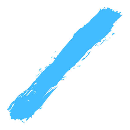 Use it in all your designs. Blue paint brushstroke ink sketch drawing created in handmade technique. Quick and easy recolorable graphic element in technique vector illustration