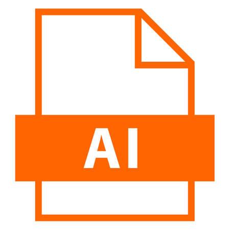 すべてのデザインに使用します。フラット スタイルのファイル名の拡張子アイコン AI Adobe Illustrator ファイル。迅速かつ簡単なカストマイズ形状。ベ