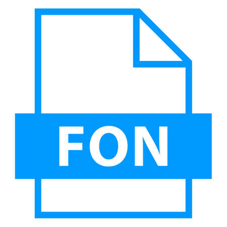 file type: Use it in all your designs. Filename extension icon FON Font File in flat style. Quick and easy recolorable shape. Vector illustration a graphic element.