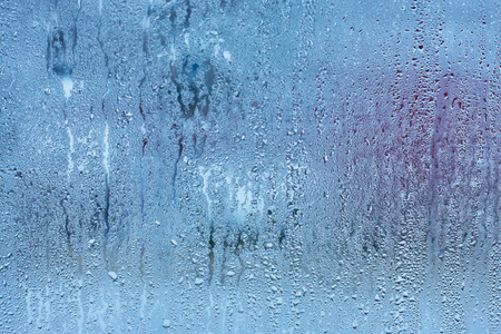 Rain water drops on a glass , Abstract Backdrop vintage style Stock Photo