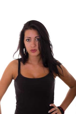 inexperienced: inexperienced girl Stock Photo