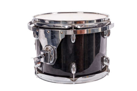 drum and bass: photo of black music bass drum  on white