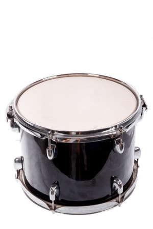 photo of classic black music bass drum  on white background 版權商用圖片