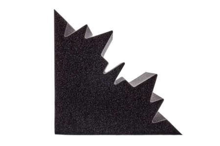 anti noise: sezione di schiuma isolante in microfibra per il rumore negli angoli dello studio della musica o sale acustiche, camere o case