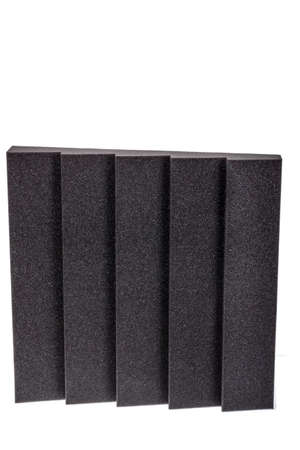 anti noise: piece of microfiber foam insulation for noise in music studio or acoustic halls , rooms or houses , professional studio insulation material , noise isolation , noise isolating protective and shock absorber foam