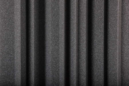 black gray  microfiber foam insulation for noise in music studio or acoustic halls , rooms or houses , professional studio insula Stock Photo