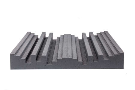 anti noise: piece of hard pressed insulation for noise in music studio or acoustic halls