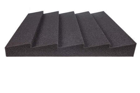 noise isolation: piece of microfiber foam insulation for noise in music studio or acoustic halls , rooms or houses , professional studio insulation material , noise isolation , noise isolating protective and shock absorber foam