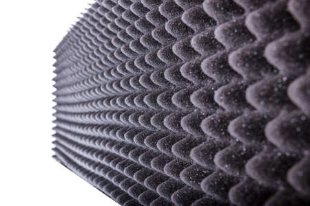 noise isolation: photo of microfiber insulation for noise in music studio or acoustic halls or houses , professional studio insulation material , noise isolation , noise isolating protective absorber wall