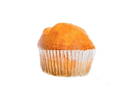 Closeup of a Magdalena, Typical Spanish Plain Muffin. Sweet Food or Dessert. Stock Photo