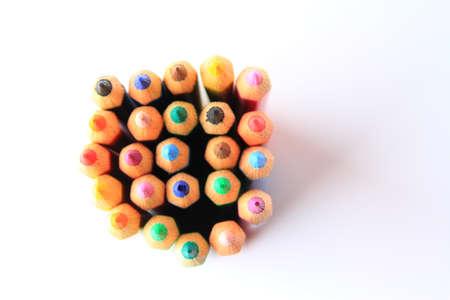 color pencil: top angle of color pencil