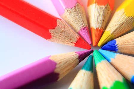 color pencil: close up of color pencil