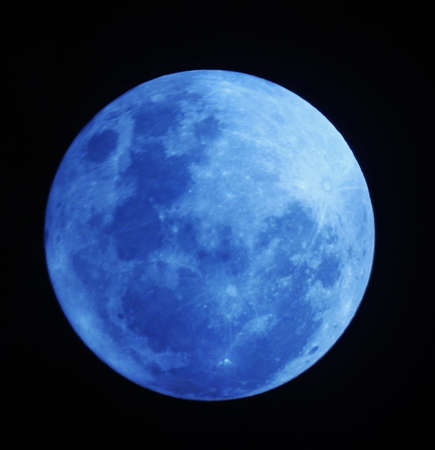 Full Moon  The fifth largest moon in the solar system, Earths moon is the only place beyond Earth where humans have set foot. Stock Photo