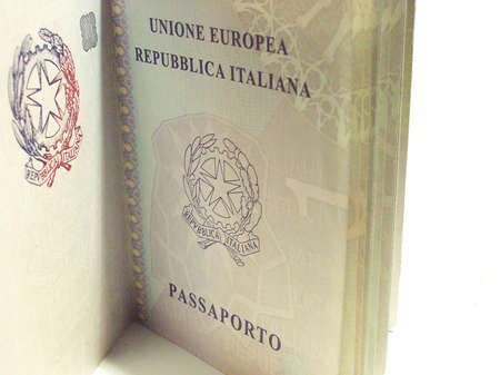 bisiness: passaporto Stock Photo