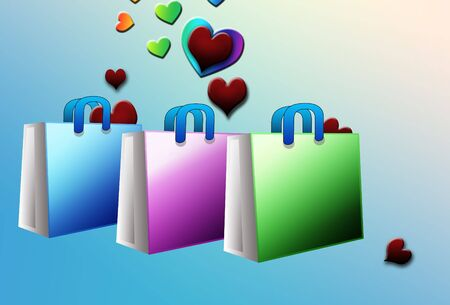 retailing: shopping for love Stock Photo