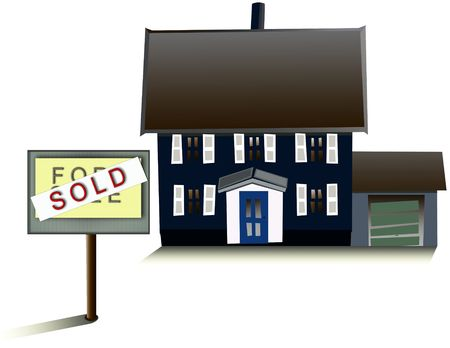 residental: house for sale - sold Stock Photo