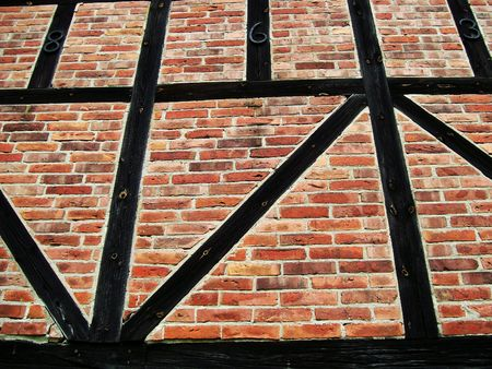 symetry: brick wall Stock Photo