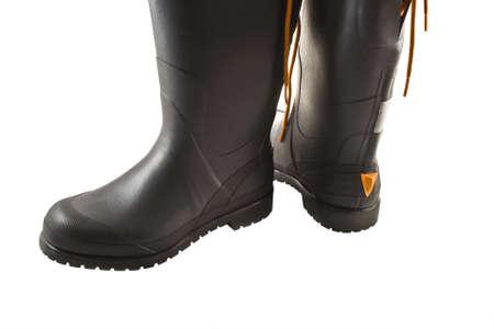 rain boots:  rubber rain boots