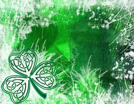 an illustration of a st patricks day shamrock, celtic style Stock Photo