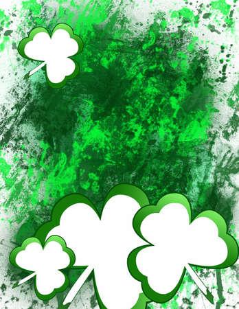 clover shamrock for st patricks day!