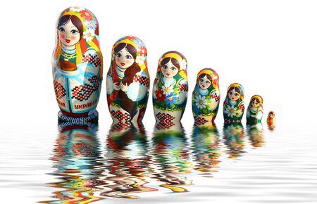 Ukrainischen Stil babuschka Dolls Standard-Bild - 3279456