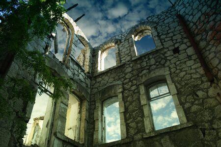 Stripped house in Yalta, Ukraine