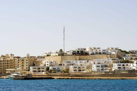 エジプト フルガダ Sekalla 部の拡大 写真素材