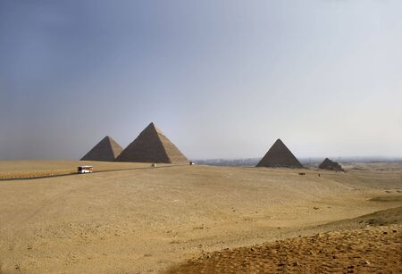 chephren:  great pyramids of Chephren, Khafu and Menkaure on the giza plateau, Kairo, Egypt