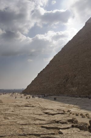 pharoah: one of the great pyramids on the giza plateau