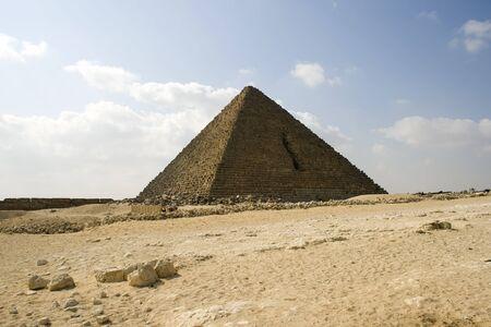 pharoah: one of the great pyramids on the giza plateau