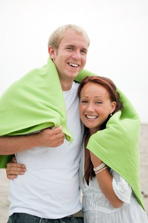Young couple having romantic fun on the beach Stock Photo - 5418957