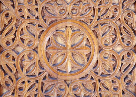 Lovely ornate wood carving photo