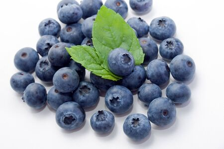 fresh and sweet organic blueberries Banco de Imagens - 6471409