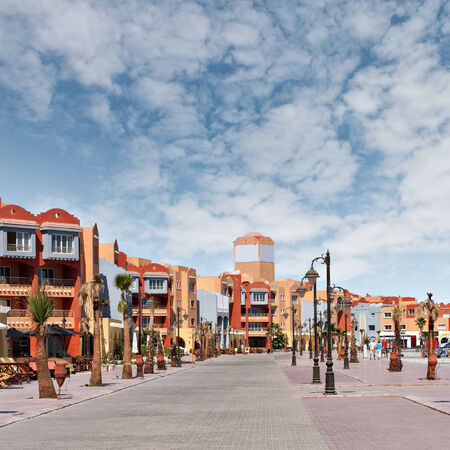 ported: Image of the new marina in Hurghada, Egypt  Stock Photo
