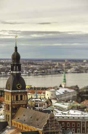 birdseye: Birdseye view of the capital of Latvia, Riga