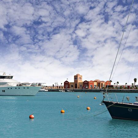 ported: Imagen del nuevo puerto deportivo en Hurghada, Egipto