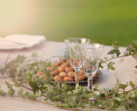 Image of a romantic garden table setting photo
