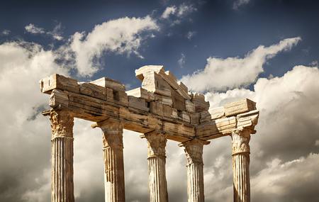greek god: Image of the ancient temple of the greek God Apollo. Side, Turkey.