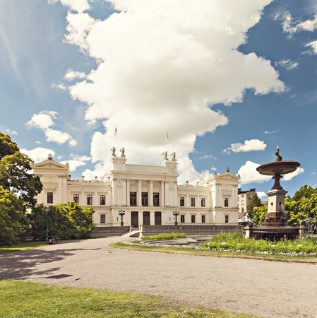 education in sweden: Image of the main building belonging to the university of Lund, Sweden