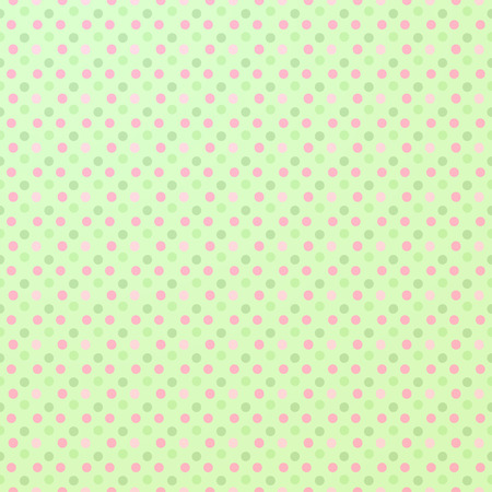 polkadot: Seamless polkadot background, in colours pink and green. Stock Photo