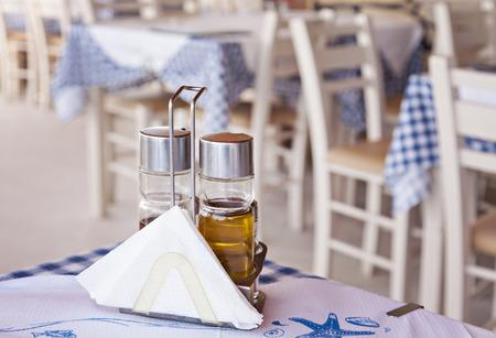 taverna: Detail image of a traditional greek taverna restaurant.