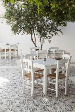 taverna: Image of a traditional greek taverna restaurant. Stock Photo