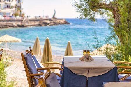 ビーチ フロント レストランのイメージ。アイオス ・ ニコラオス。