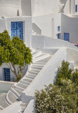 whitewashed: Image of traditional white-washed homes on Santorini Island, Greece. Stock Photo