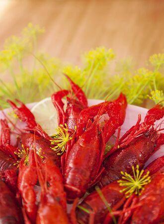 freshly cooked: Image of freshly cooked crayfish.