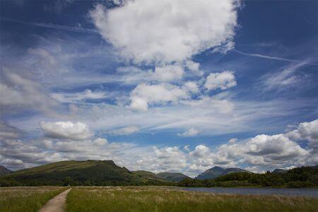 awe: Dramatic clouds over Loch Awe, Scotland.