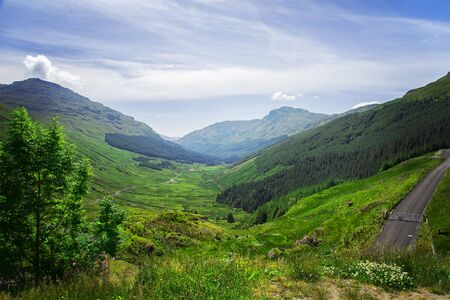 highland: Image of the hilly landscape of the scottish highlands. Stock Photo